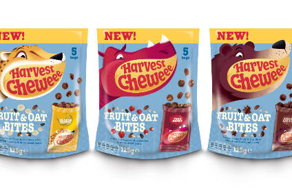 Harvest Cheweees new Oat & Fruit Bites bags