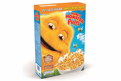 Raisio has once again slashed the sugar content of its Honey Monster Puffs cereal