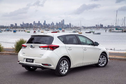 Toyota Australia is launching the hybrid well into the lifespan of the current Corolla, known as Auris in Europe. Its cars will be built in Japan