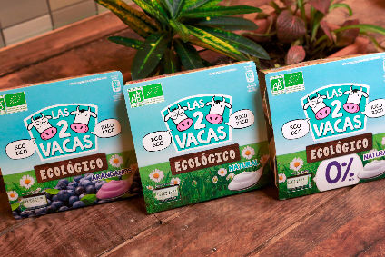Danone launches organic yogurt Las 2 Vacas in Spain