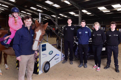 Apprentices built the young horse rider a set of well engineered, JLR-branded mobile steps
