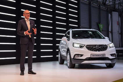 Opel Group CEO Neumann presents the Mokka X to the media in Geneva
