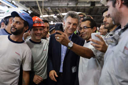 TASA employees meet President of Argentina Mauricio Macri