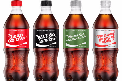 Share a Coke and a Song will appear across all of brand Coca-Colas products