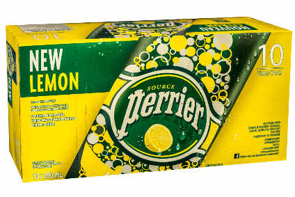 Perrier Lemon is now available in slim cans