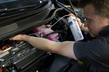 In addition to the usual checks on brakes, fluids and tyres, the Mirai needs inspection of the fuel cell's cooling system, hydrogen sensor and hydrogen fuel supply system. The only additional equipment required is a hydrogen leak detector and a diluted hydrogen spray, used to check the operation of the sensors