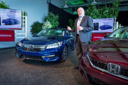 John Mendel Head Of American Honda Motors Automobile Division Announces The 2017 Accord Hybrid