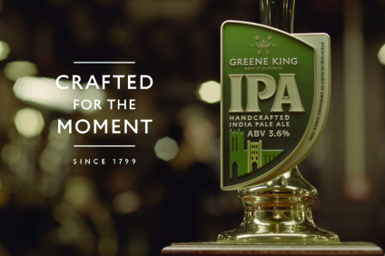 Greene King posted a full-year sales and profits jump today