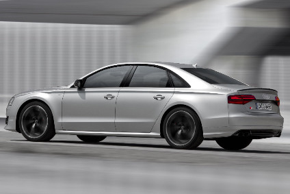S8 plus costs from £96,825+£1,570 OTR costs, does 0-62mph in 3.8 seconds, has top speed of 155mph or optional ungoverned to 189mph, CO2 average is 231g/km