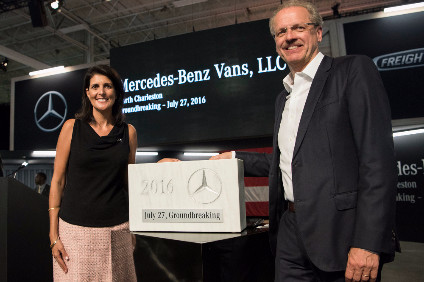 Mercedes-Benz builds Sprinter vans in several factories around the globe. This was a SOP ceremony in the US
