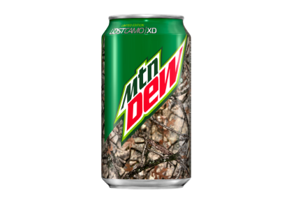 PepsiCo is positioning Mountain Dew as an outdoor brand with the Camo Can