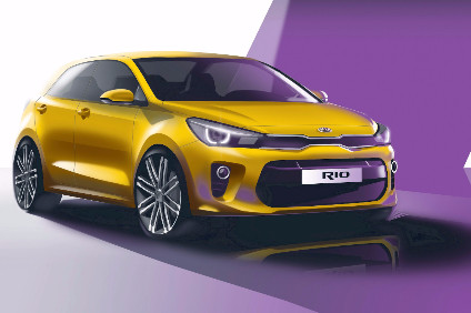 Pre-launch sketch shows how fourth generation Kia Rio will look on launch day in Paris