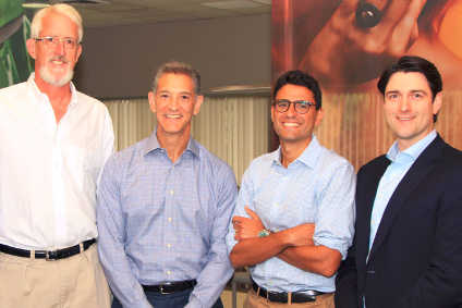 AIP partners Justin Fish and Eric Baroyan, Gerber CEO Mike Elia, Graham Sullivan (AIP)