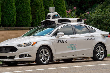 An Uber self-driving car on test in the US