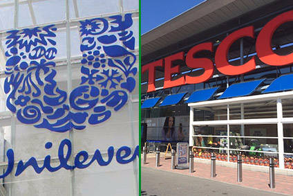 "Tescos warning on ""unjustified"" price increases follows last months dispute with Unilever"