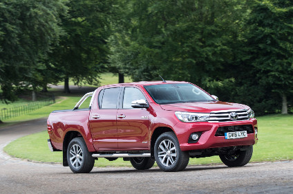 UK RHD Hilux is made in South Africa. This is high-spec Invincible model