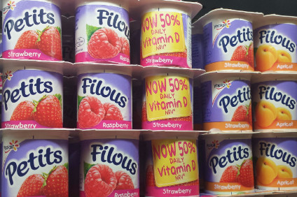 Reformulated Petits Filous on sale in Waitrose store