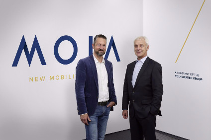 VW Group CEO Matthias Müller and MOIA CEO Ole Harms