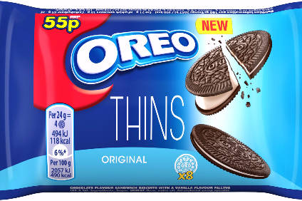UK debut for Oreo Thins follows launches in Australia and US
