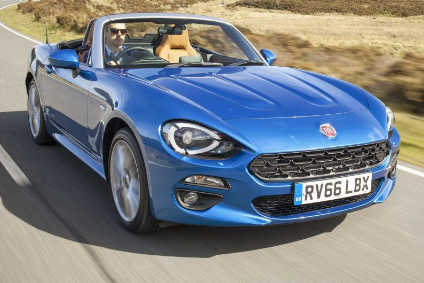 Pricing for the Fiat 124 Spider starts at £20,995