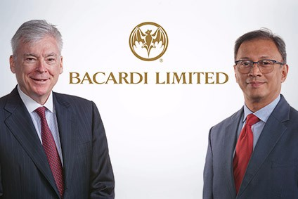 Mahesh Madhavan, right, will replace Mike Dolan, left, as CEO of Bacardi next year
