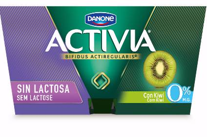 Activia lactose-free in Spain available in three flavours