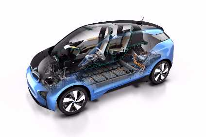 The BMW i3 uses carbon fibre reinforced plastic in its construction.