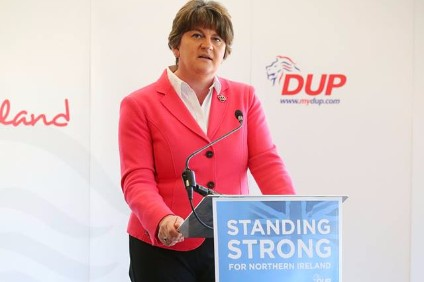 "DUP leader Arlene Foster opposed to so-called ""hard Brexit"""