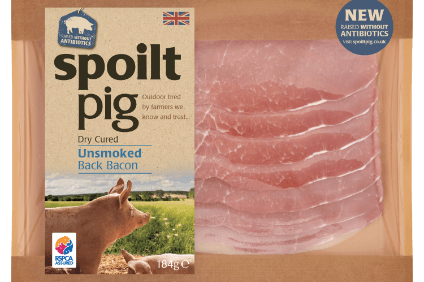 "Spoiltpig ""raised without antibiotics"" bacon launched in UK"