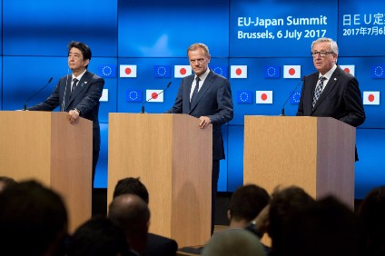 European Union commissioner says free trade agreement with Japan reached during Kishida visit