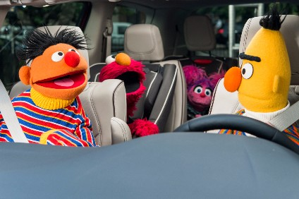 Are we there yet? Chrysler is using PBS channels Sesame Street to promote the Pacifica in the US