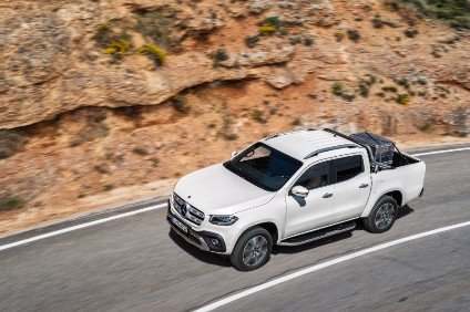 Nissan body is used but Daimler has added its own nose, tail lamps, cockpit and electronic gadgets to create premium X-class pickup/truck/ute for sale on several continents