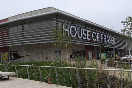 House of Fraser supplier credit cover withdrawn