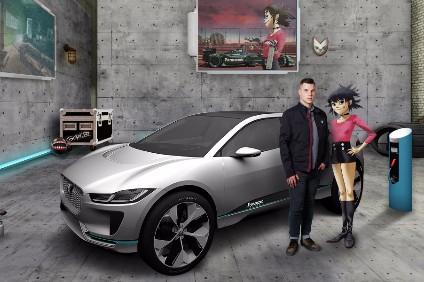 Gorillaz guitarist and Jaguar Formula E race team and STEM ambassador Noodle with new recruit Dunkley