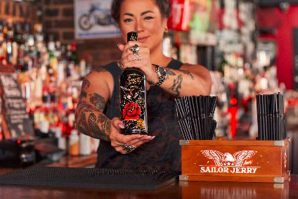 The next limited edition Sailor Jerry bottles features a rose and eagle design