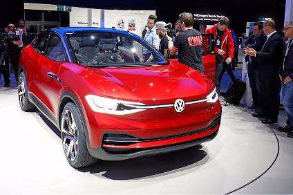 The Vw Electric Crossover Concept Id Crozz An Updated Version Was Rolled Out At