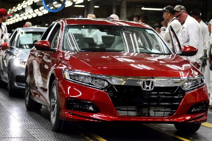Hondas recent new product announcements include the US 2018 Accord seen here on the line in Marysville, Ohio