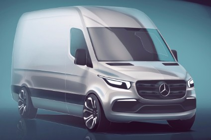 Mercedes-Benz has revealed the looks of the new Sprinter