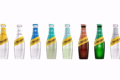 The new bottle shape is inspired by Jacob Schweppes 1783 skittle design