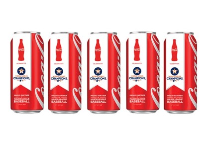 Coca-Cola announced the new cans the day after the Astros victory