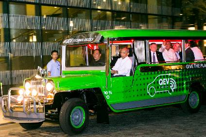 There may be a future for some Jeepneys - like this electric example - but the older and dirtier ones are facing phase-out - which creates a sizeable opportunity for replacement people movers in the future