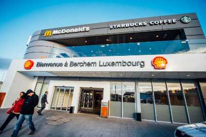 Coffee? Burger? In Luxembourg, Shell operates the world's largest petrol station, servicing up to 25,000 customers per day