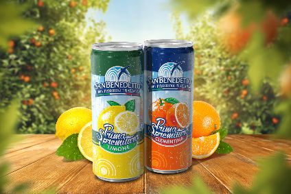San Benedetto will launch in two flavours - Limone (Lemon) and Clementina (Orange)