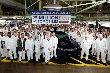 Honda US Builds Its 25 Millionth Car