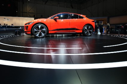 The future, according to Jaguar. I-Pace self-driving tech is currently limited to automatic cruise control with lane-keeping assistance but tech-savvy owners will be able to control some of its functions from their Alexa smart speaker