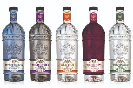The new bottles for the City of London Distillery aim to highlight the premium and craft credentials for its gin portfolio