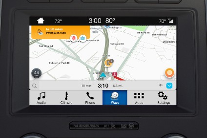 SYNC3 now allows Waze to be displayed on the touch screen and controlled by the Fords voice system
