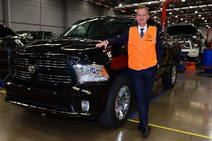 Ateco managing director Roger Zagorski with the first RHD Ram 1500