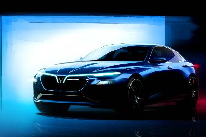 VinFast issued this image of its sedan design