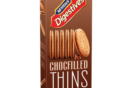 New Products - Pladis extends McVities Thins range in UK; Ellas Kitchen launches Oddpops popped snacks; Glanbias BSN launches ice cream protein shakes with Cold Stone Creamery; Parag Milk Foods debuts Go Chocolate Cheese